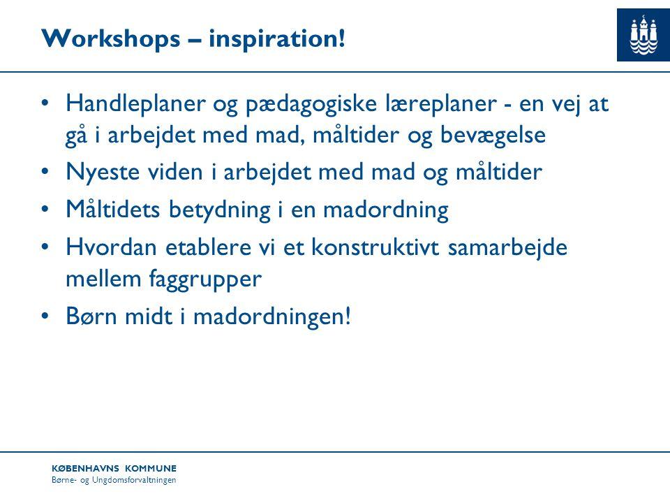 Workshops – inspiration!