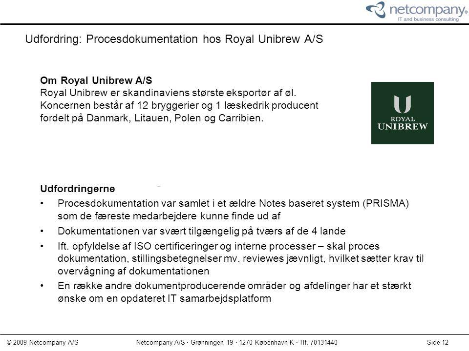 Udfordring: Procesdokumentation hos Royal Unibrew A/S