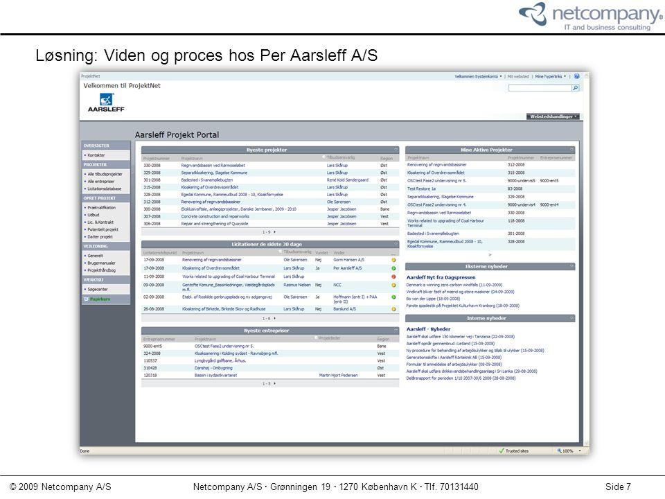 Løsning: Viden og proces hos Per Aarsleff A/S