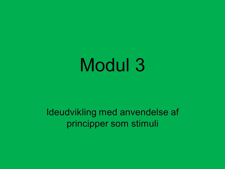 Ideudvikling med anvendelse af principper som stimuli