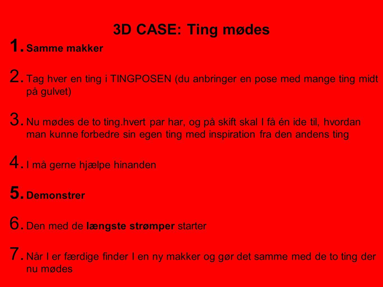 3D CASE: Ting mødes Samme makker
