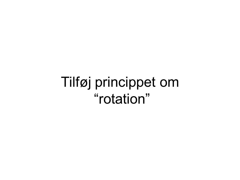 Tilføj princippet om rotation