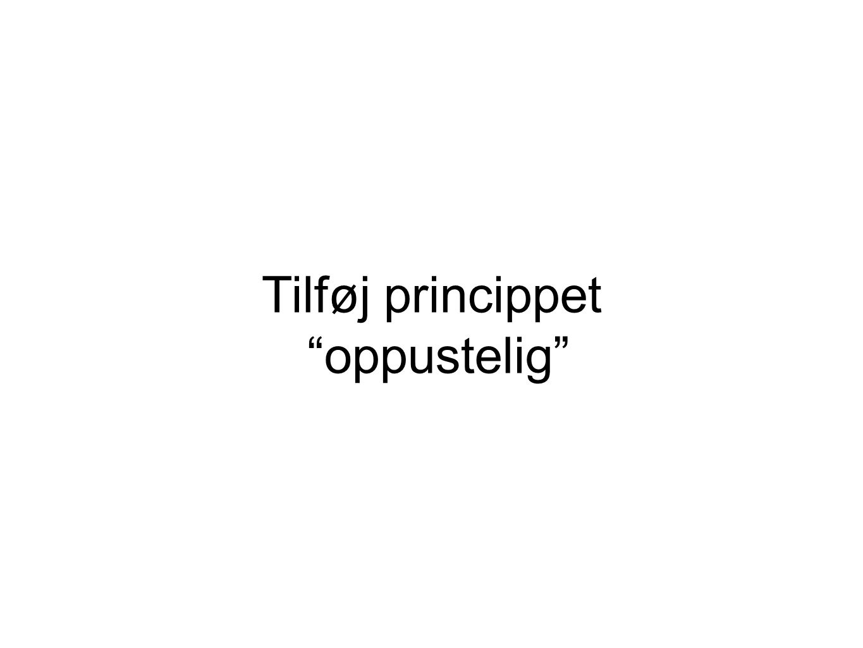 Tilføj princippet oppustelig