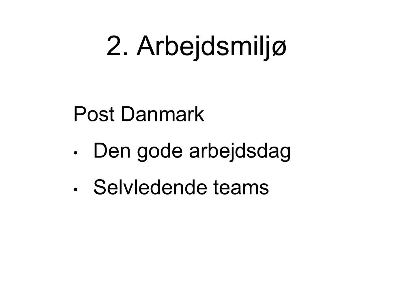 2. Arbejdsmiljø Post Danmark Den gode arbejdsdag Selvledende teams