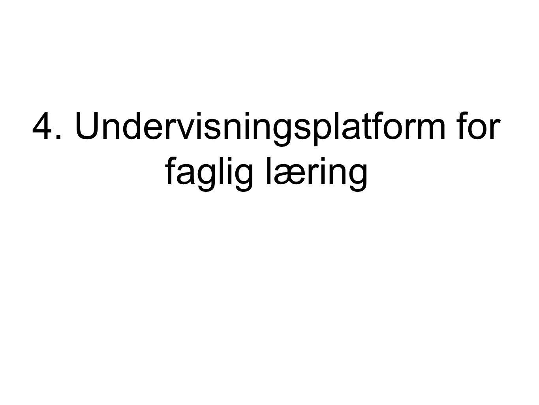 4. Undervisningsplatform for faglig læring
