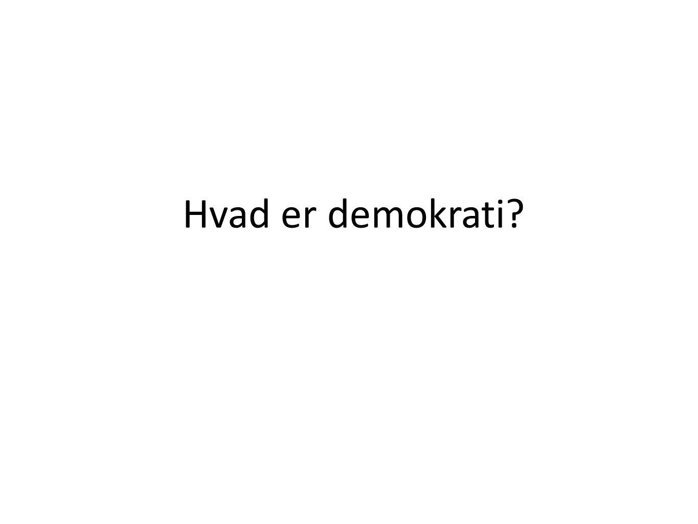 Hvad er demokrati