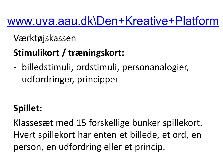 www.uva.aau.dk\Den+Kreative+Platform Værktøjskassen