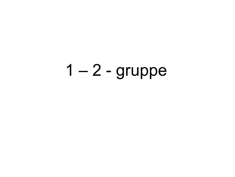 1 – 2 - gruppe