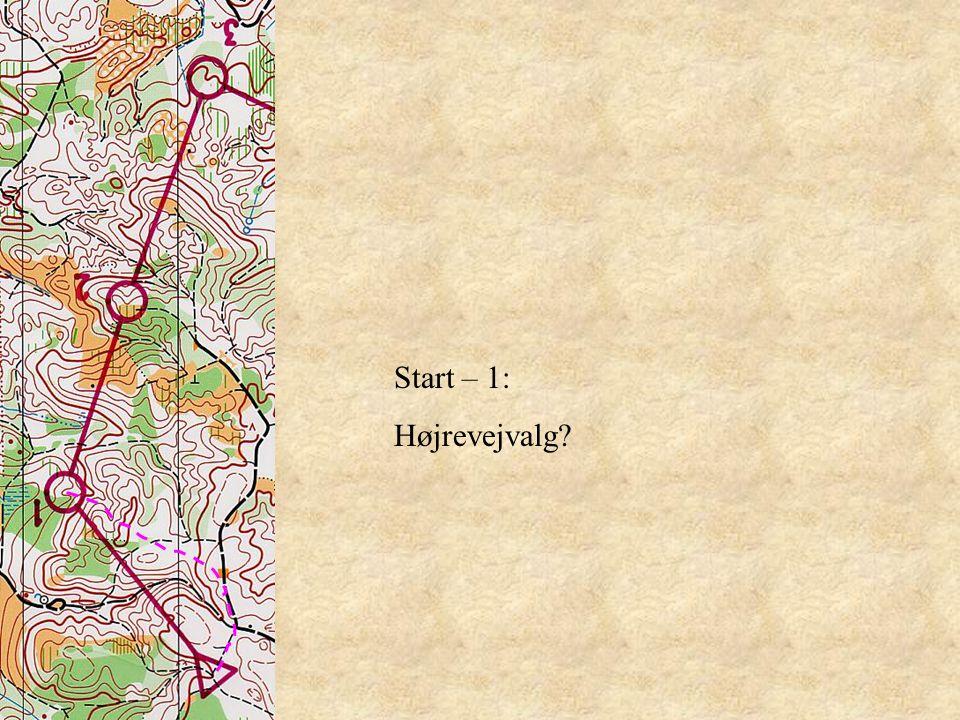 Start – 1: Højrevejvalg