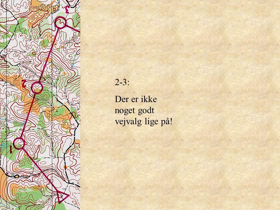 2-3: Der er ikke noget godt vejvalg lige på!