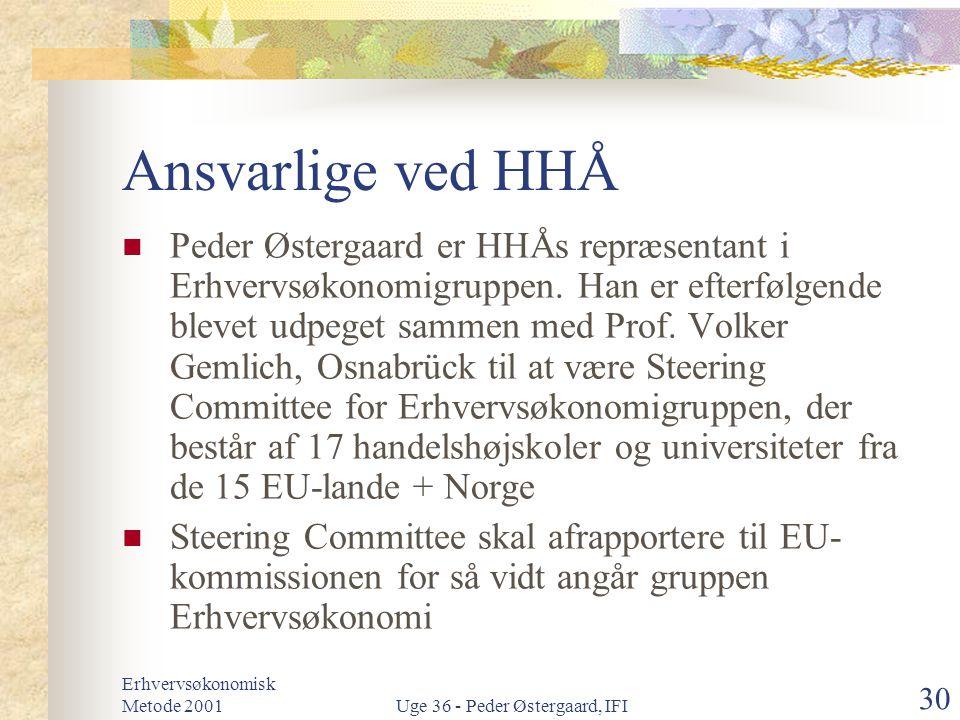 Uge 36 - Peder Østergaard, IFI