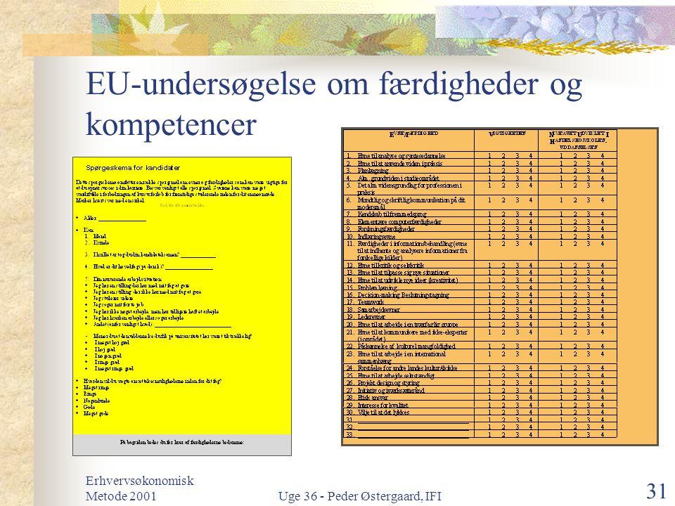 EU-undersøgelse om færdigheder og kompetencer