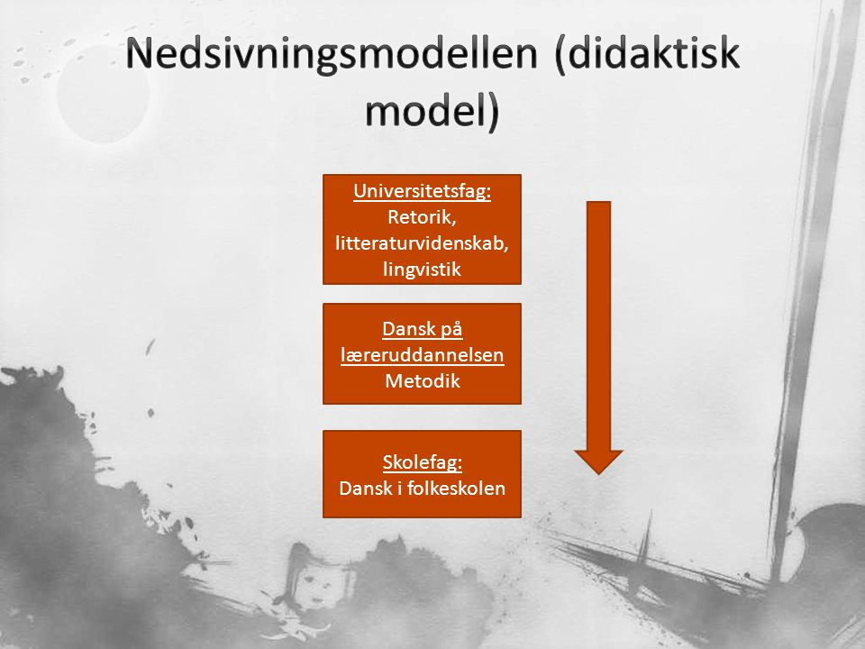 Nedsivningsmodellen (didaktisk model)