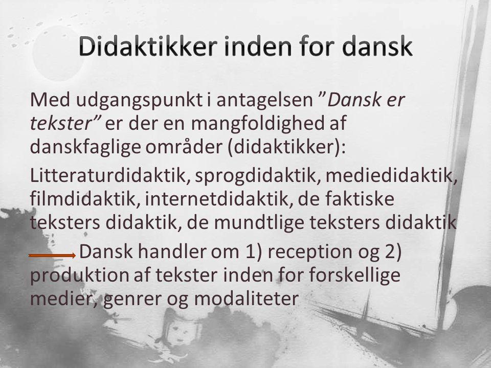 Didaktikker inden for dansk