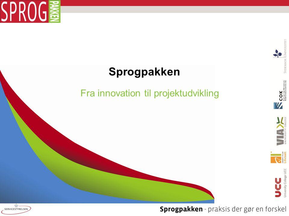Fra innovation til projektudvikling