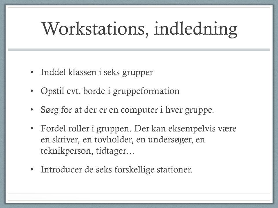 Workstations, indledning