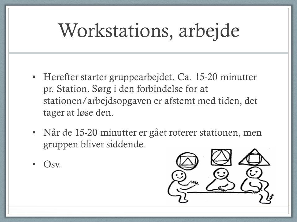 Workstations, arbejde