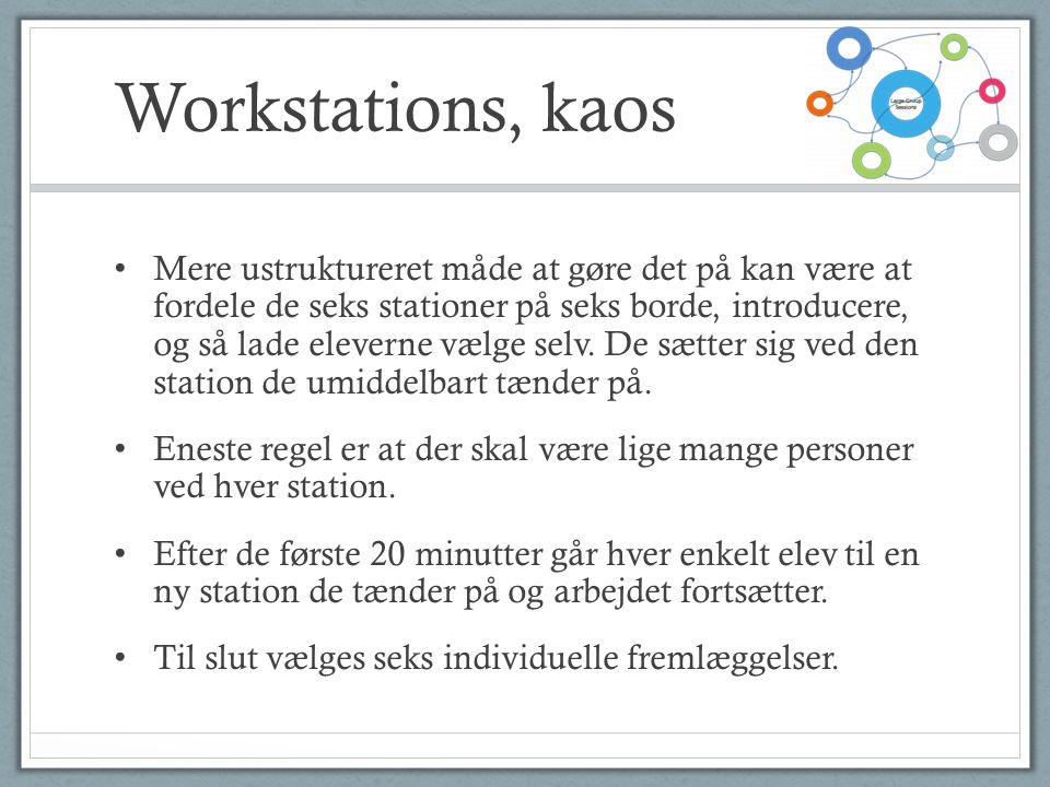 Workstations, kaos