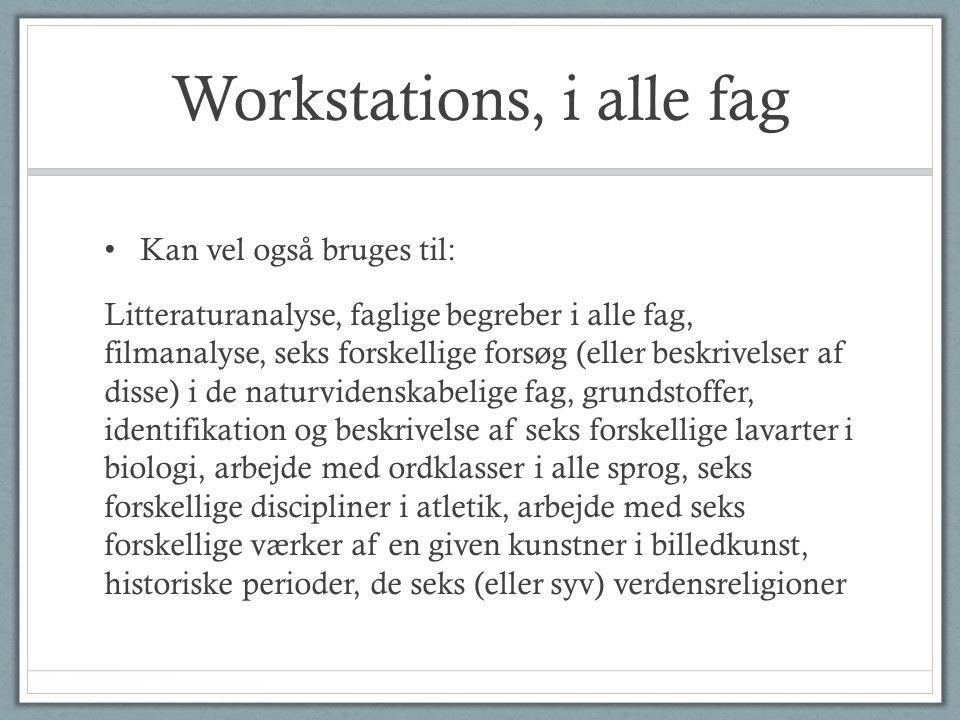Workstations, i alle fag