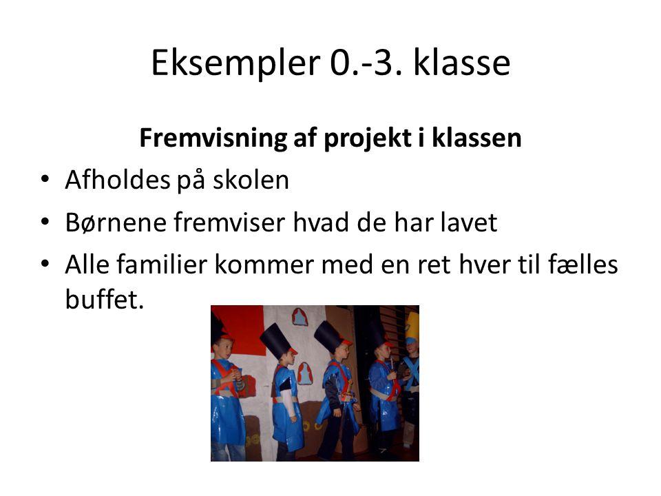 Fremvisning af projekt i klassen