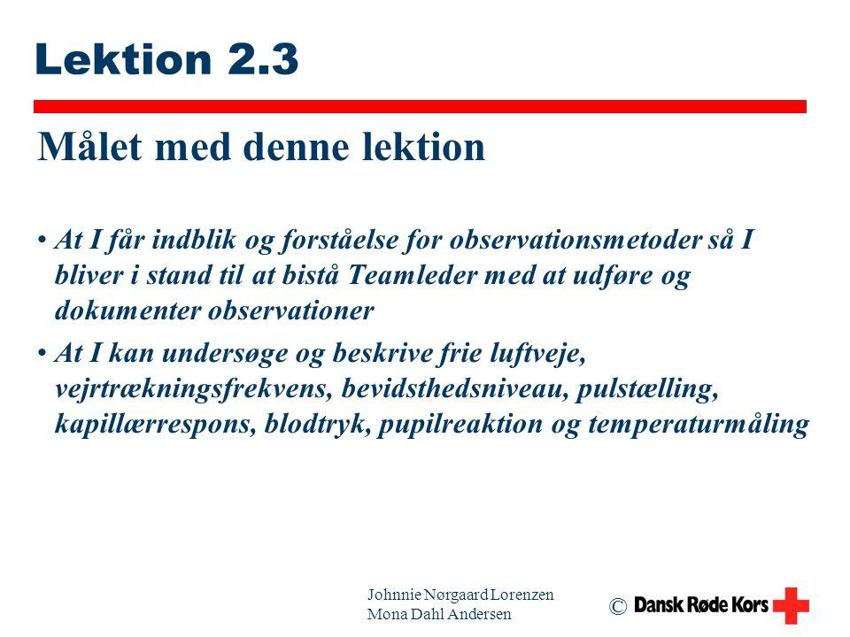Lektion 2.3 Målet med denne lektion