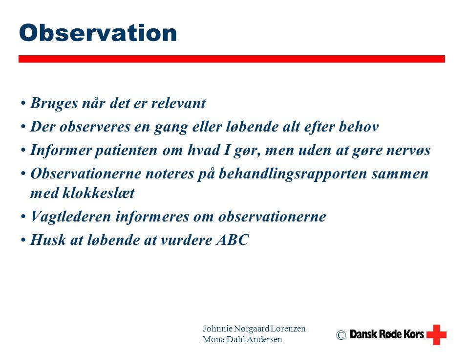 Observation Bruges når det er relevant