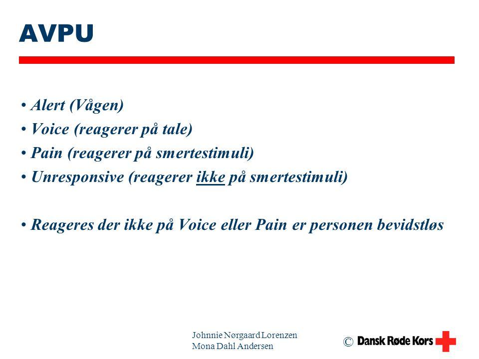 AVPU Alert (Vågen) Voice (reagerer på tale)