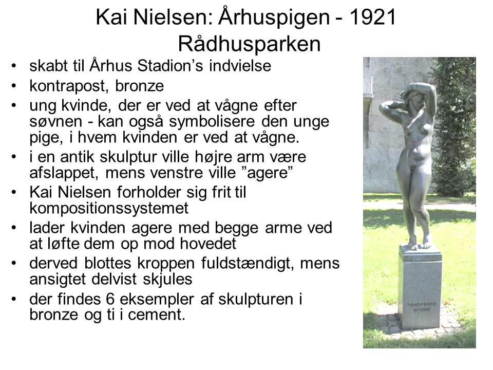 Kai Nielsen: Århuspigen - 1921 Rådhusparken
