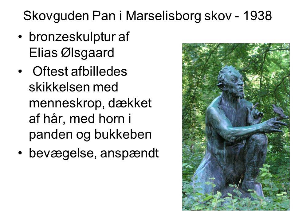 Skovguden Pan i Marselisborg skov - 1938