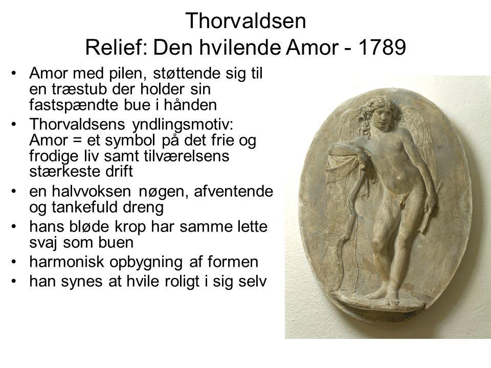 Thorvaldsen Relief: Den hvilende Amor - 1789