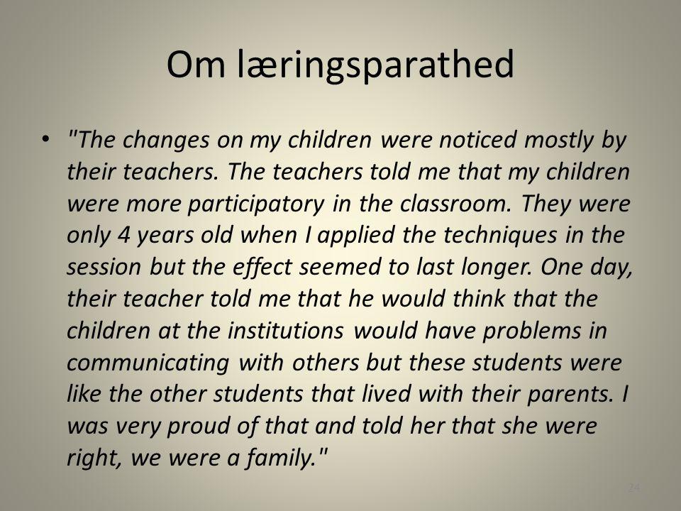 Om læringsparathed