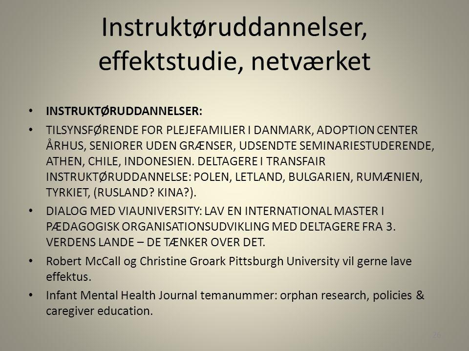 Instruktøruddannelser, effektstudie, netværket