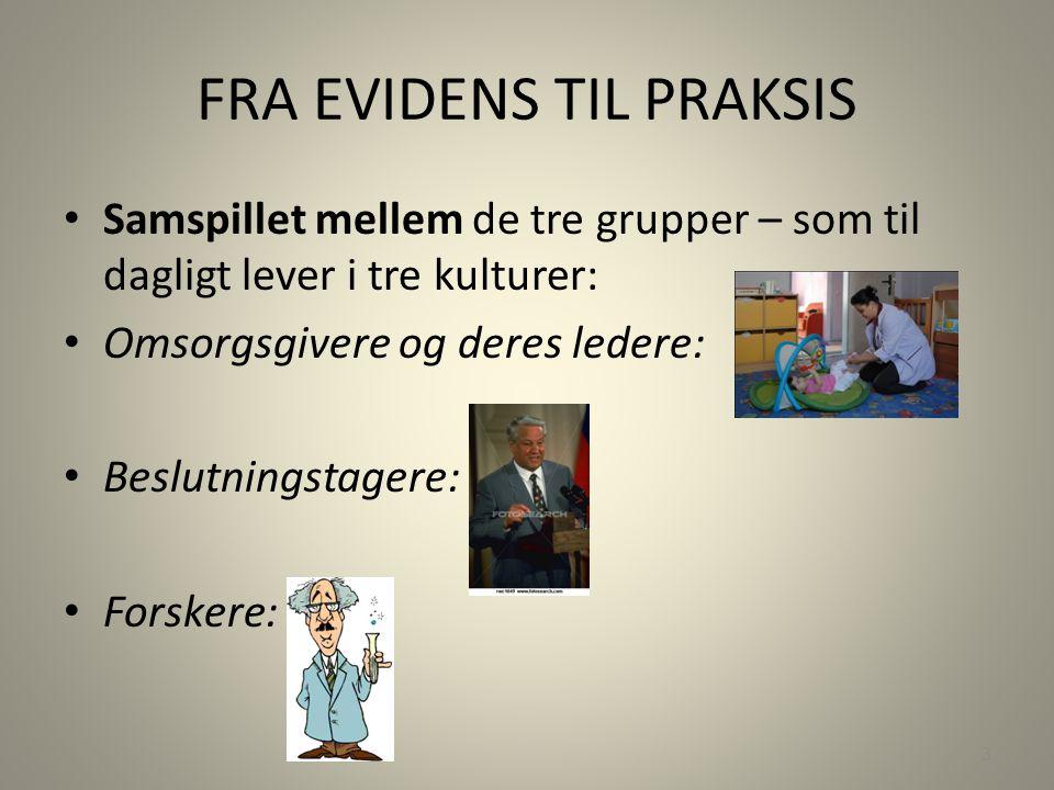 FRA EVIDENS TIL PRAKSIS