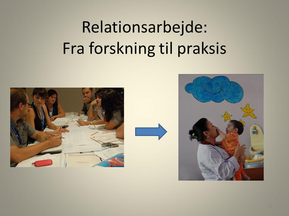 Relationsarbejde: Fra forskning til praksis