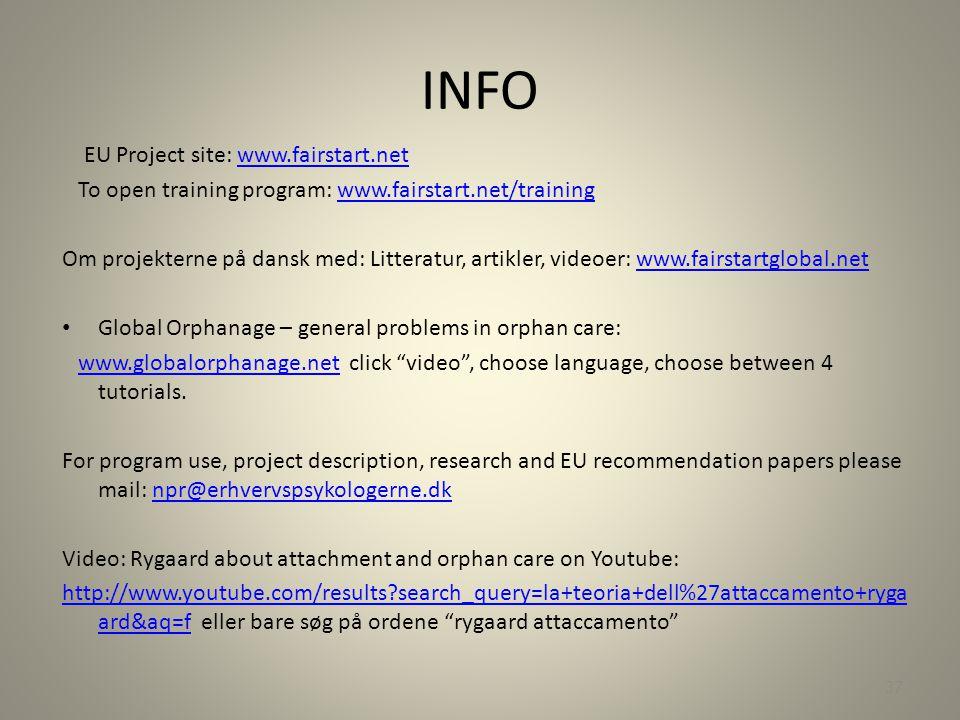 INFO EU Project site: www.fairstart.net