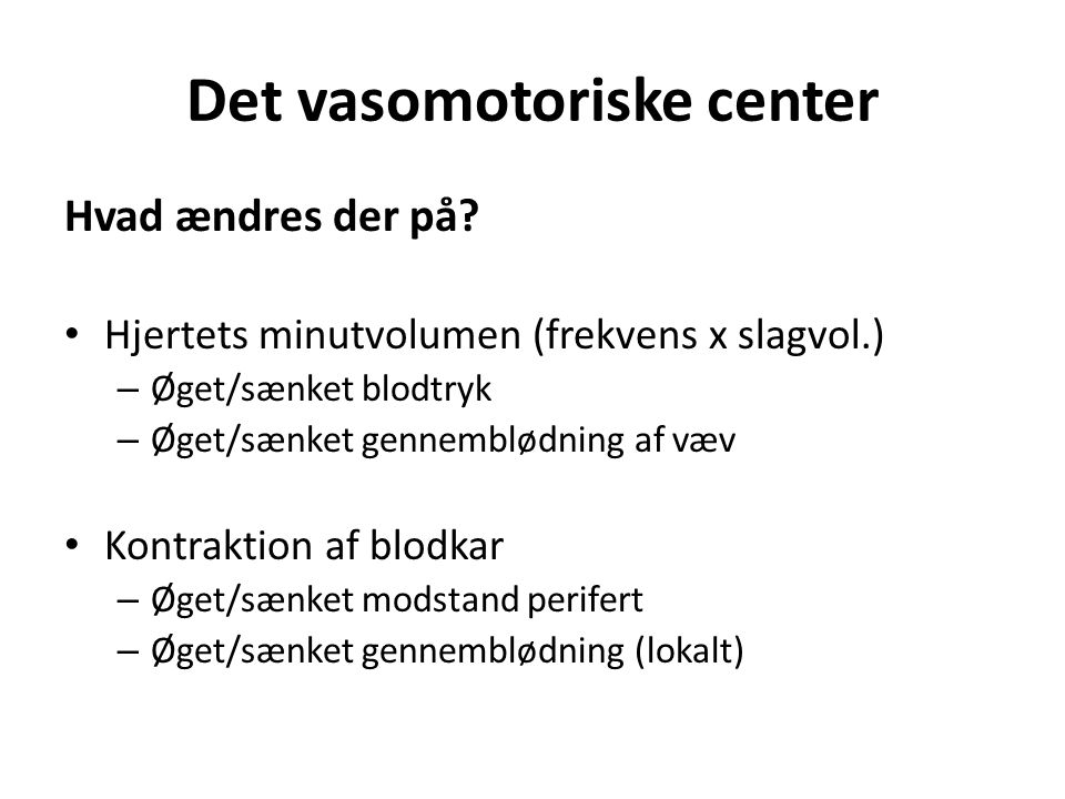 Det vasomotoriske center