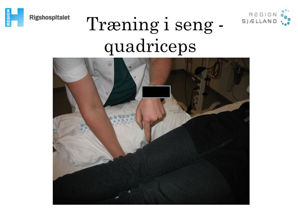Træning i seng - quadriceps