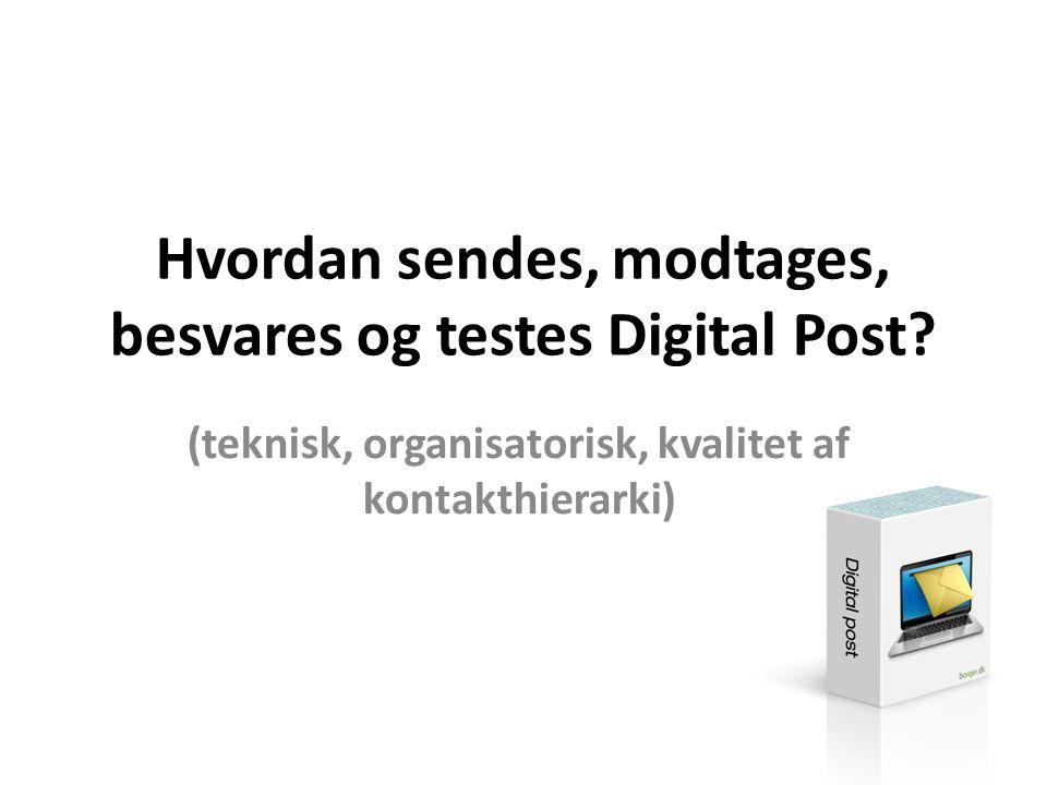 Hvordan sendes, modtages, besvares og testes Digital Post