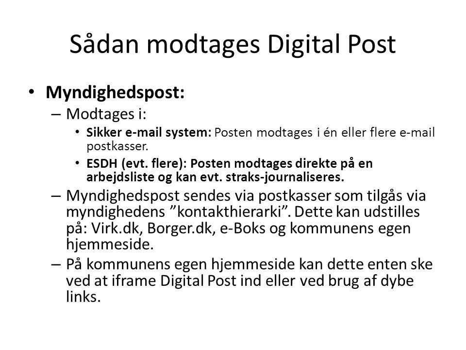 Sådan modtages Digital Post