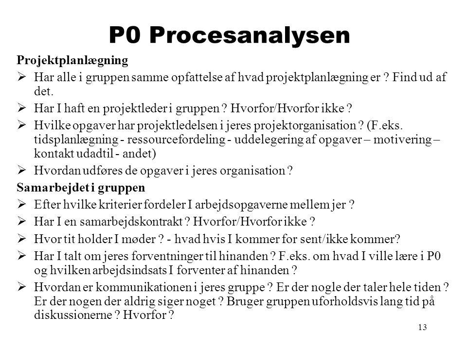 P0 Procesanalysen Projektplanlægning