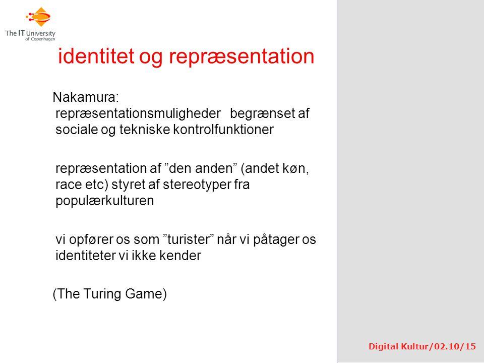 identitet og repræsentation