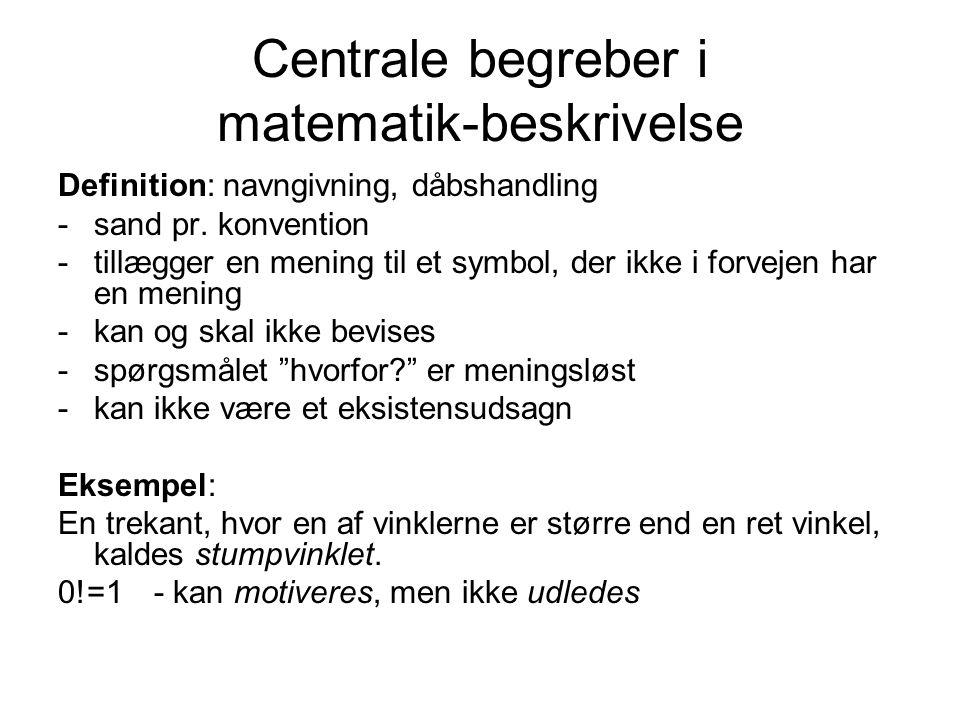 Centrale begreber i matematik-beskrivelse