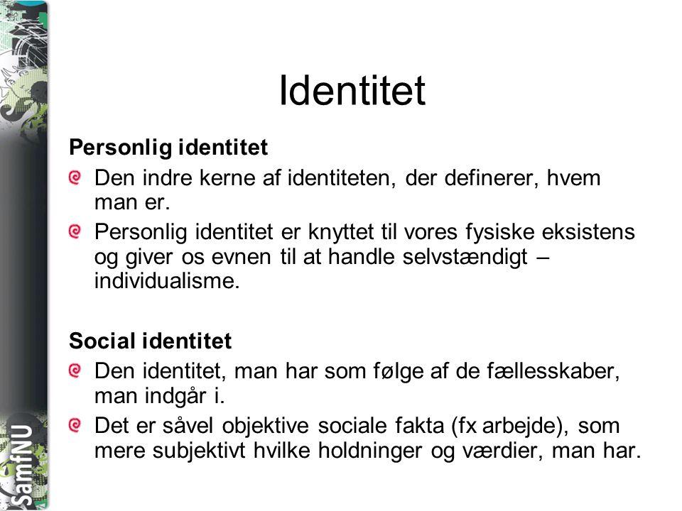Identitet Personlig identitet