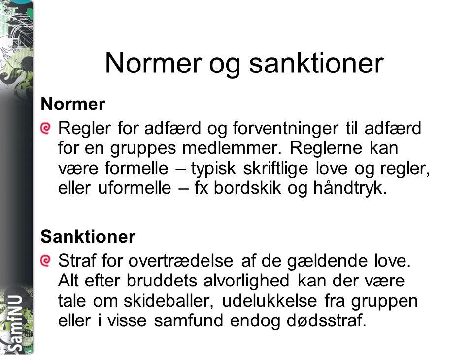 Normer og sanktioner Normer
