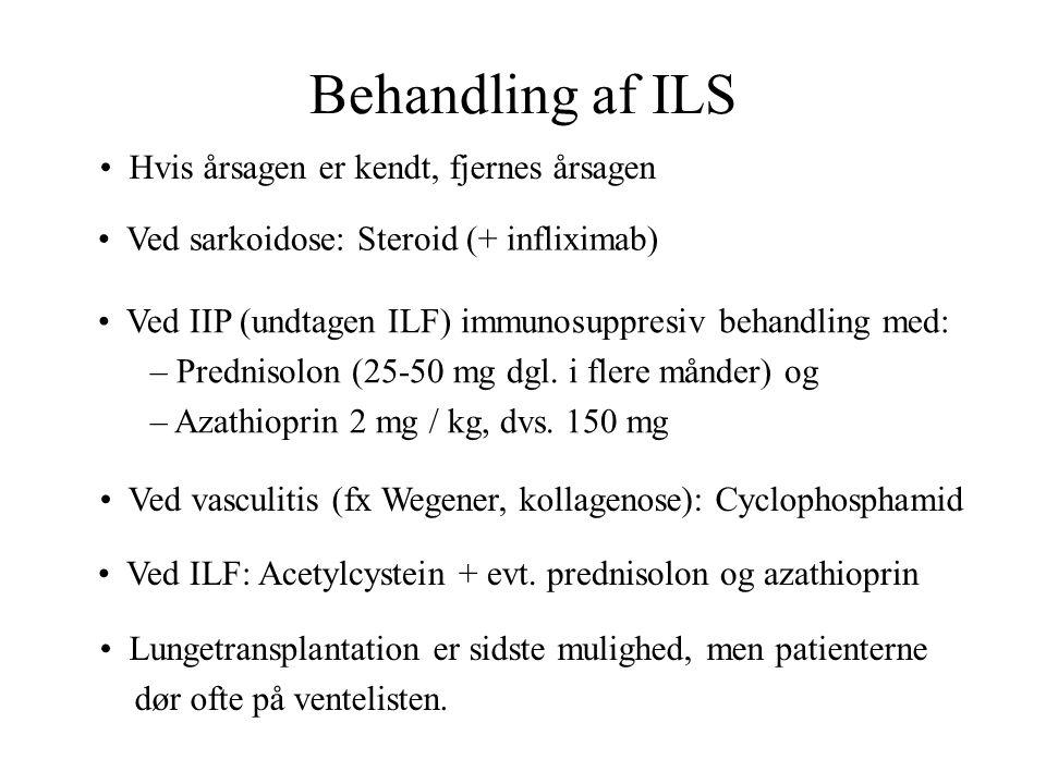 Behandling af ILS Hvis årsagen er kendt, fjernes årsagen