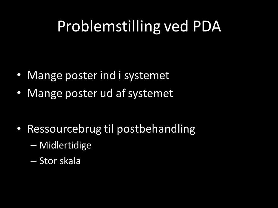 Problemstilling ved PDA