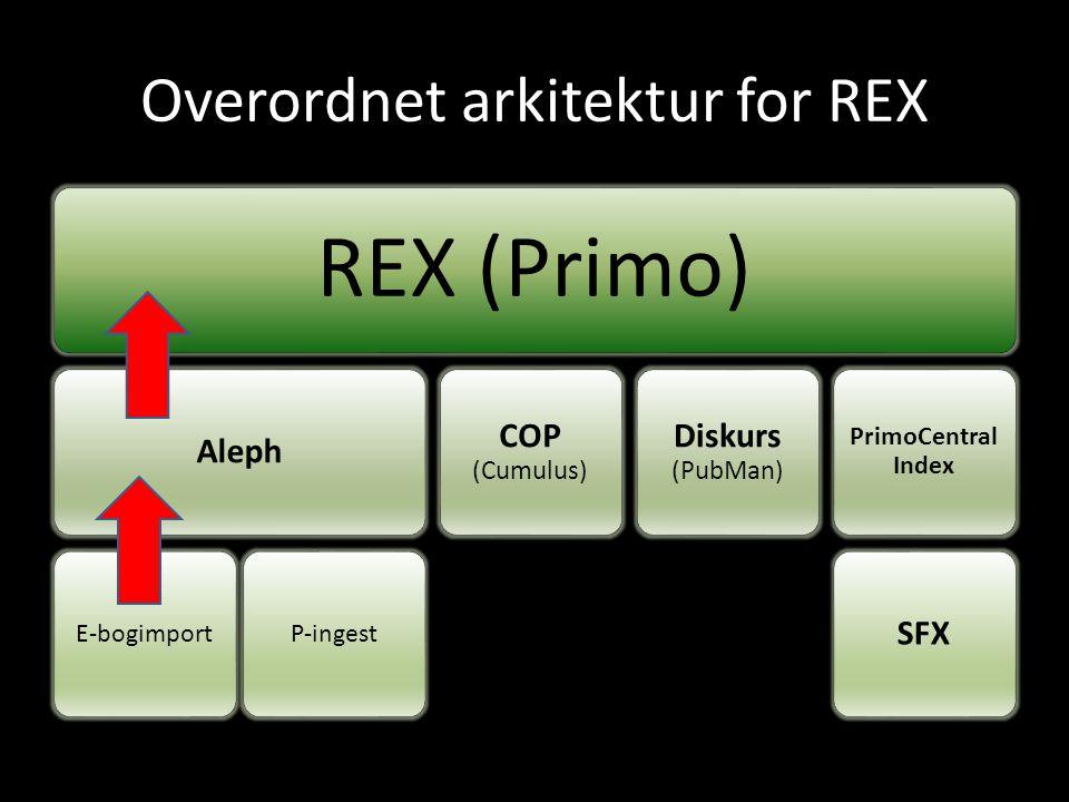 Overordnet arkitektur for REX