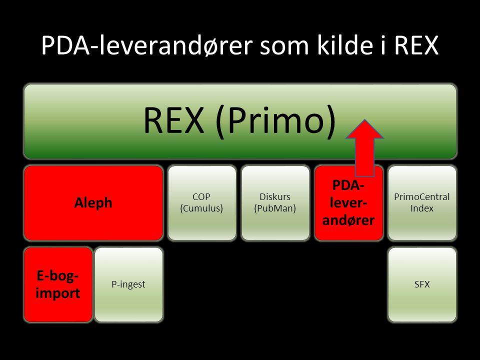 PDA-leverandører som kilde i REX