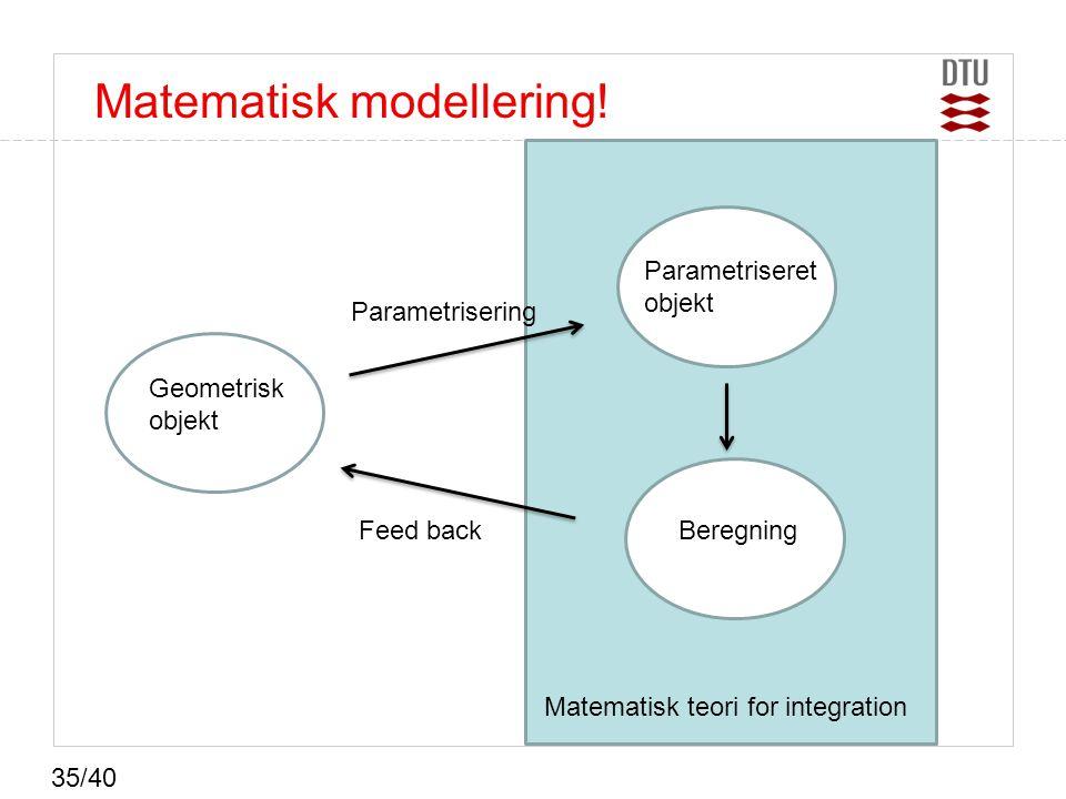 Matematisk modellering!