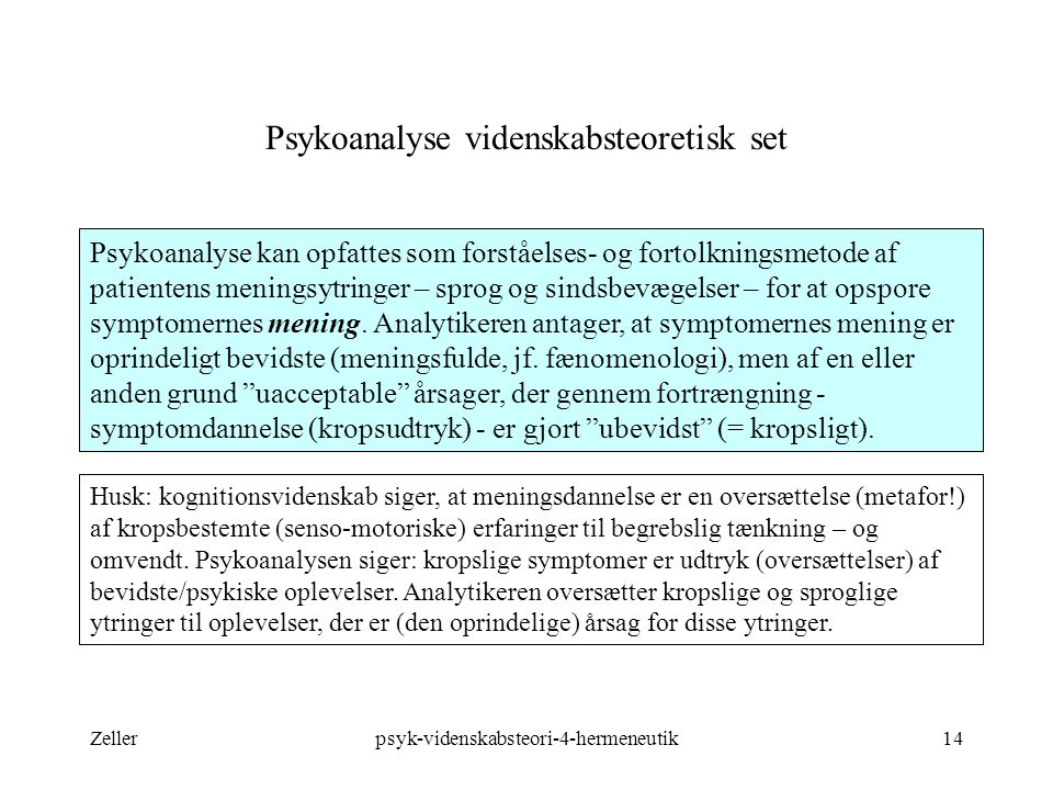 Psykoanalyse videnskabsteoretisk set